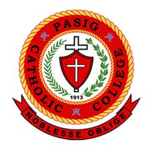 Pasig Catholic College (PCC)'s Logo